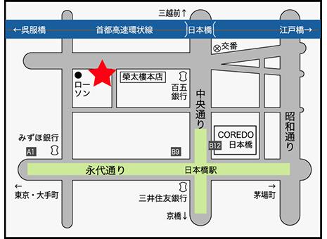 日本橋かに福地図